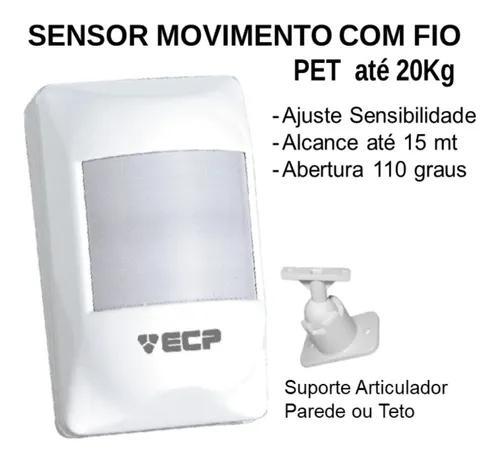 Sensor ivp movimento presença alarme visory pet 20kg com