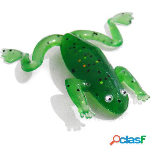 Sapinho de silicone 6,5 cm verde - kit com 5 iscas