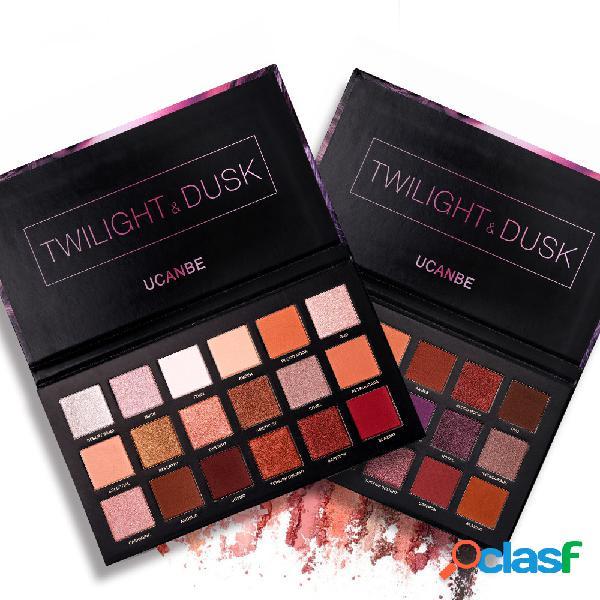 18 cores rose gold eyeshadow paleta de longa duração smoky paleta da sombra shimmer matte eye shadow