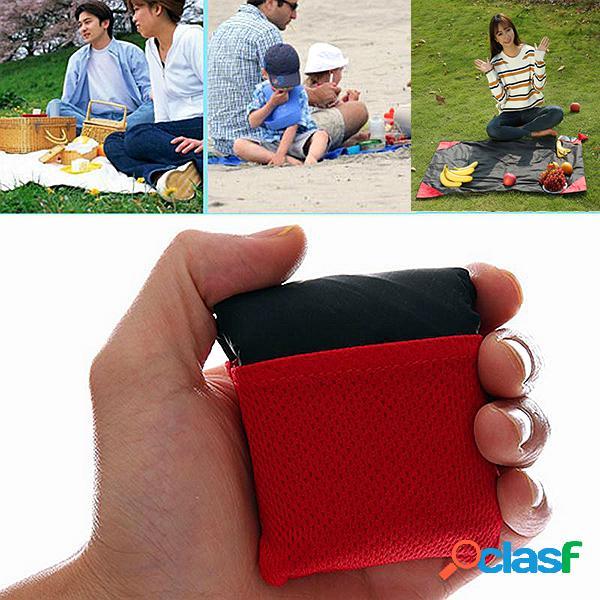 59 * 71 inches moistureproof waterproof pockets picnic mats portátil outdoor junket carpet beach mats