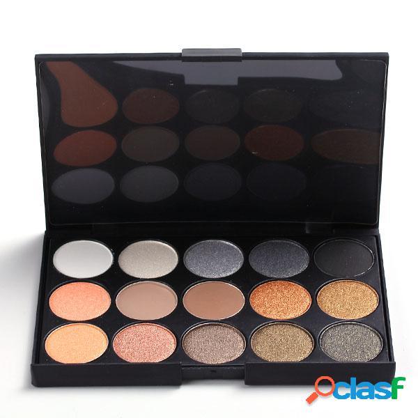 15 earth color matte eyeshadow palette cosmética shimmer eye shadow eyes makeup set