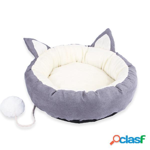 Filhote de cachorro bonito almofada de dormir mat destacável lavável pet dog cat macio rodada cama para todas as estações