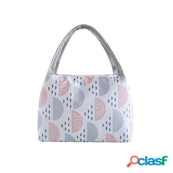Almoço com zíper caixa bolsa pacote de isolamento almoço ao ar livre com piquenique bolsa gelo fresco bolsa