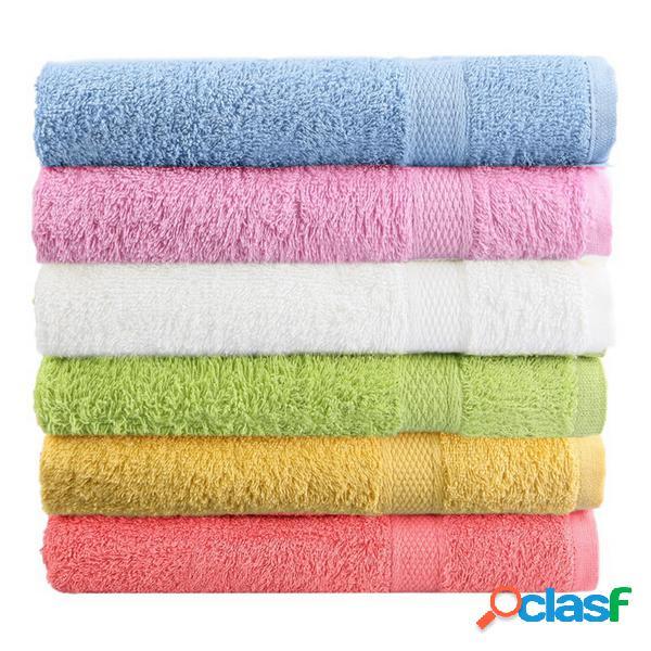 80x50cm toalha de praia de banho de algodão macio toalha de rosto super absorbent loose terry