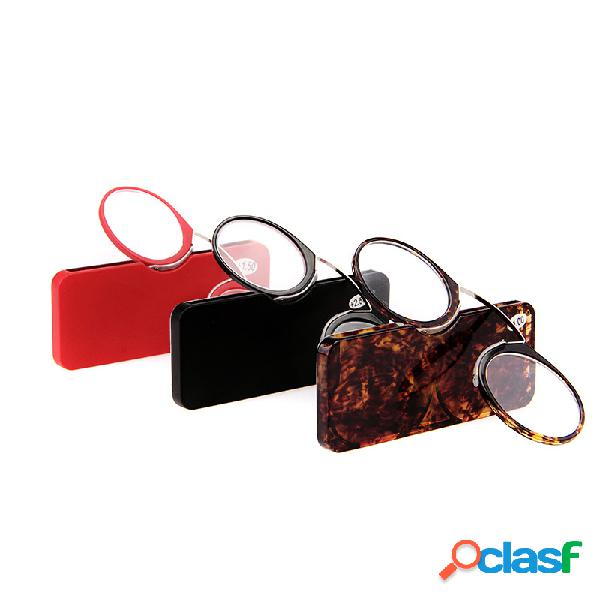 Clip nariz óculos de leitura tr90 à prova de slip portátil espelho de leitura unisex saúde pessoal cuidados com os olhos