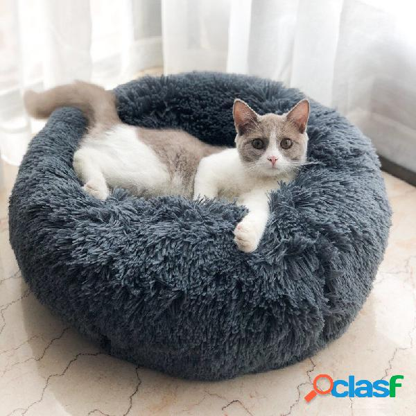 Super plush super soft pet round bed kennel cachorro almofada de dormir confortável para gatos
