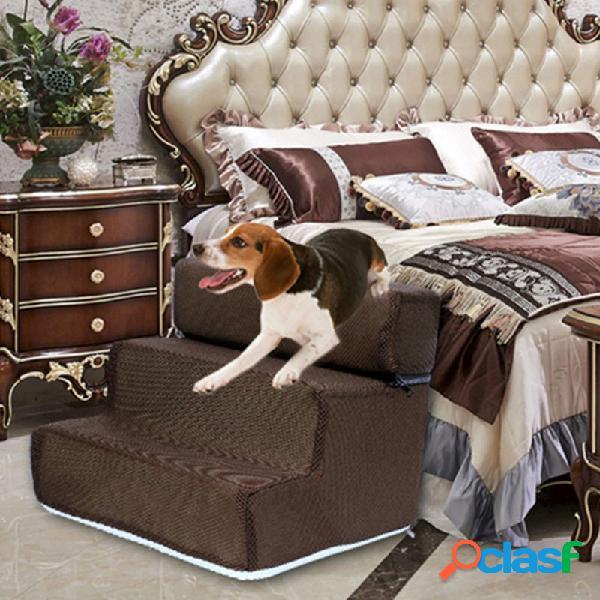Cachorro escadas pet esponja escada cachorro teddy on sofa on bed ladder
