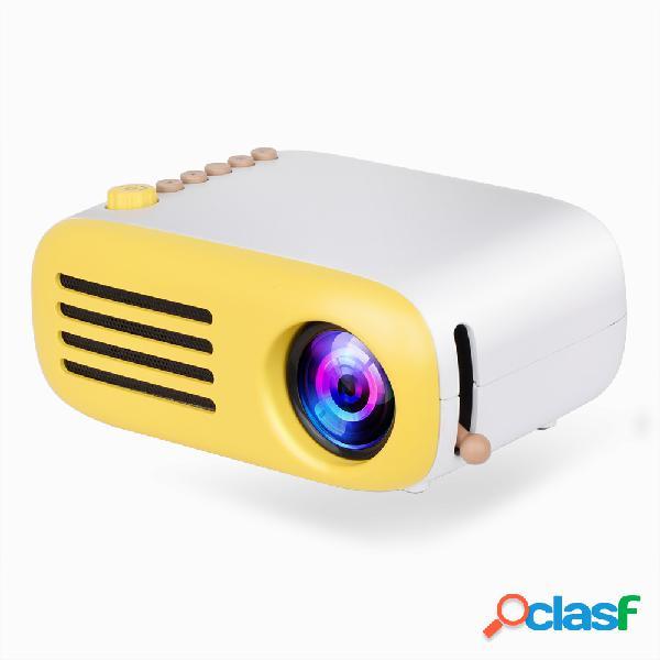 Aao yg200 mini led projetor de bolso usb hdmi suporte 1080p casa beamer vídeo de presente para crianças portátil
