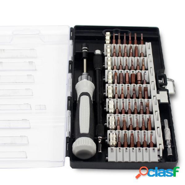 Atualização de versão 6100b precision chave de fenda set 56 mini multi bits eletrônicos repair tool kit