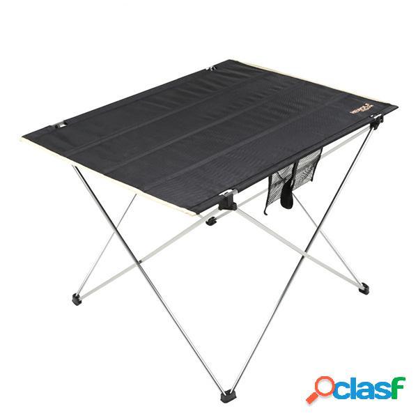 Mesa de churrasco piquenique portátil com dobramento leve peso mesa de praia de pesca com dobramento