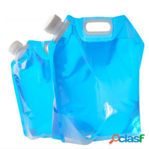Ipree sacola de água dobrável portátil sacola de elevação do armazenamento de transporte de água camping ao ar livre 5l e 10l