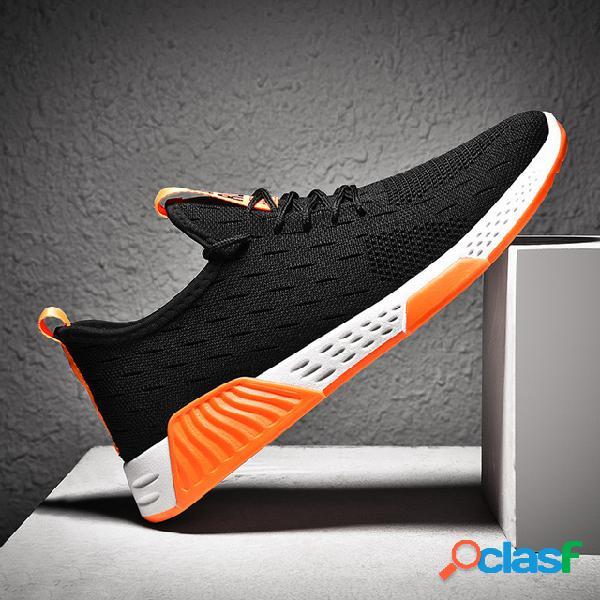 Novos calçados esportivos masculinos temporada fly woven calçados masculinos casuais baixos para ajudar respirável malha pano estudante sapatos