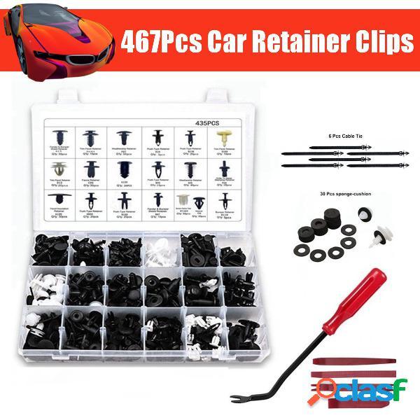 467 pcs fixadores de rebite retentor push pin body car bumper rebite guarnição moldagem retentor clipe ferramentas kit