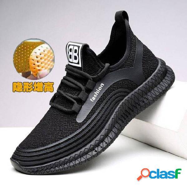 Calçados masculinos temporada maré sapatos novos sapatos vermelhos net calçados esportivos masculinos dia desodorante temporada respirável sapatos casuais