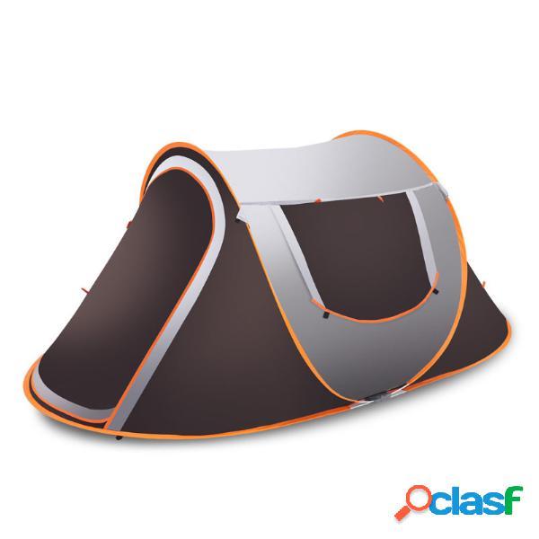 3-4 família pessoa instant pop up barraca de acampamento ao ar livre à prova d 'água ao ar livre