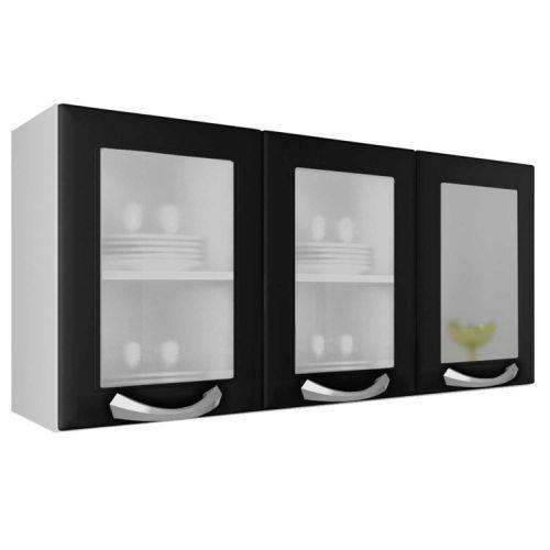 Arm/u00e1rio 3 portas com vidro premium itatiaia ipv3-120