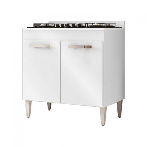 Balc/u00e3o de cozinha cooktop roma 2 portas branco - lumil