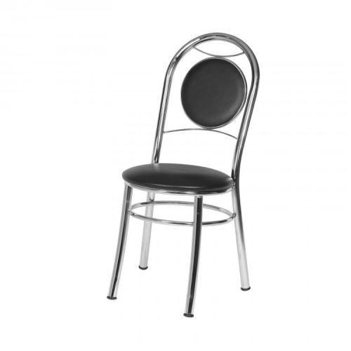 Cadeira assento estofado m/u00f3veis brastubo cromado//preto