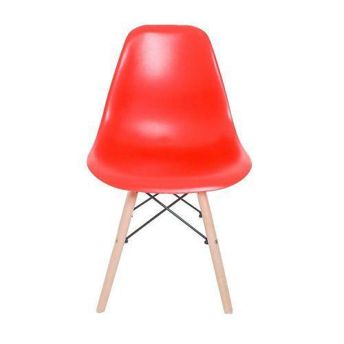 Cadeira eiffel charles eames em abs com base de madeira dsw