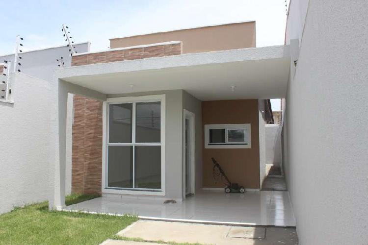 Casa plana no bairro messejana com 95m² em fortaleza-ce