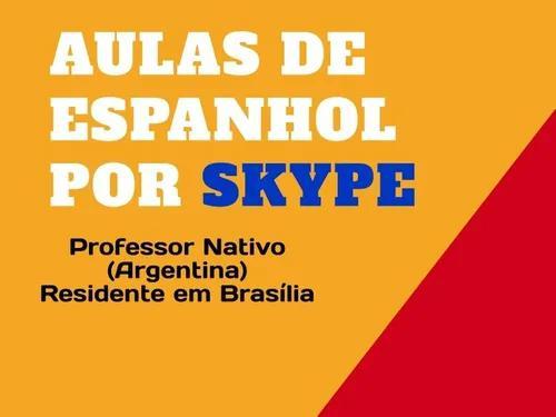 Aulas de espanhol por skype (professor nativo) r$25/hora