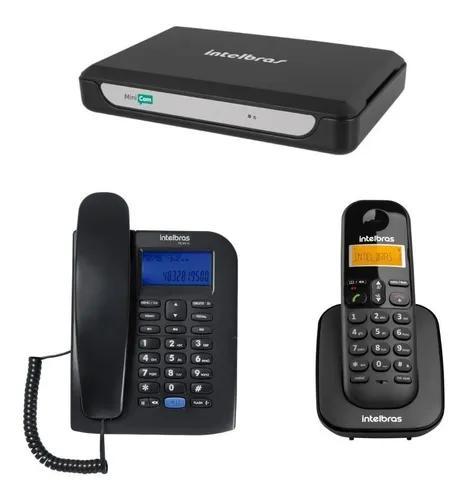 Central pabx 2 linhas telefonica minicom slim intelbras