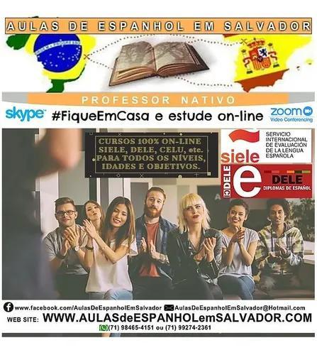 Espanhol - professor nativo - primeira aula gratis