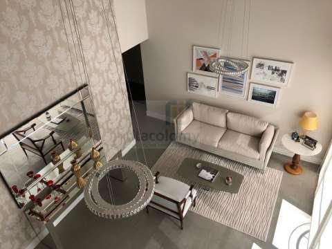 Lindo apartamento duplex totalmente mobiliado com 136 m² de