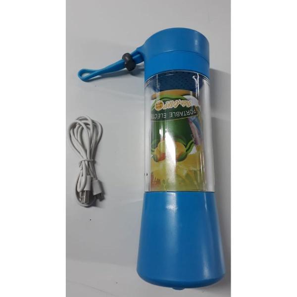 Mini liquidificador portátil azul