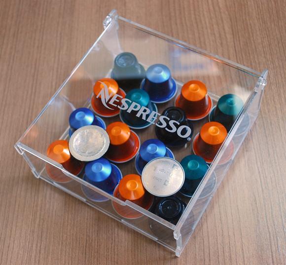 Porta capsulas nespresso - cubo de acrílico