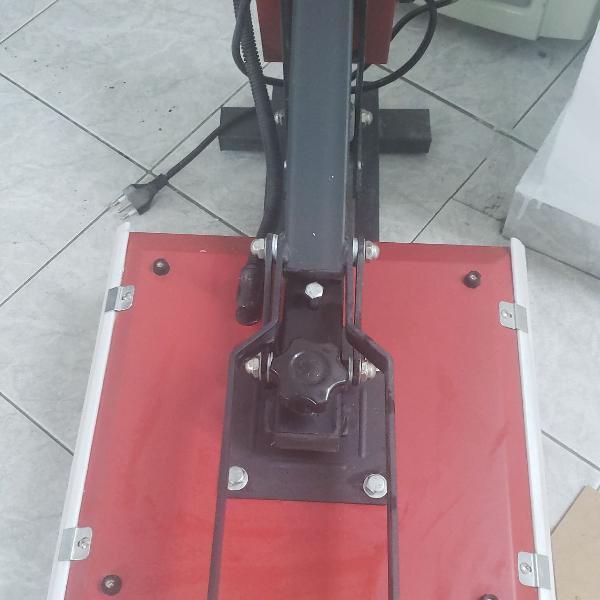 Prensa térmica 38x38cm manual vermelha mecolour 110v