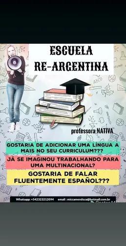 Professora de espanhol nativa de argentina
