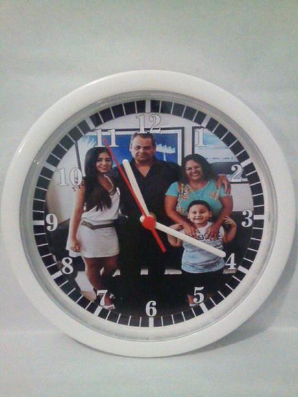 Relógio de parede personalizado presente de natal