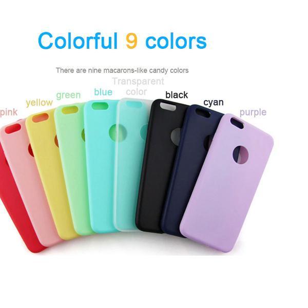 Capa iphone cor verde água/azul claro tpu silicone macio
