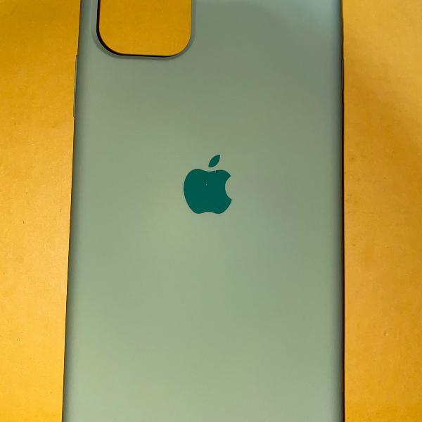 Case capa iphone 11 normal verde apple logo