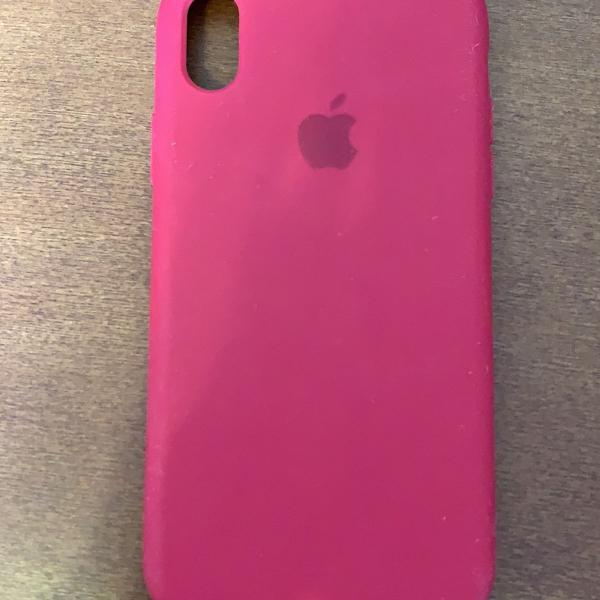 Case original iphone xr em couro vermelho