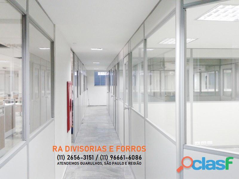 Divisoria em Guarulhos SP eucatex drywall forro isopor pvc vidro divisorias usadas 9