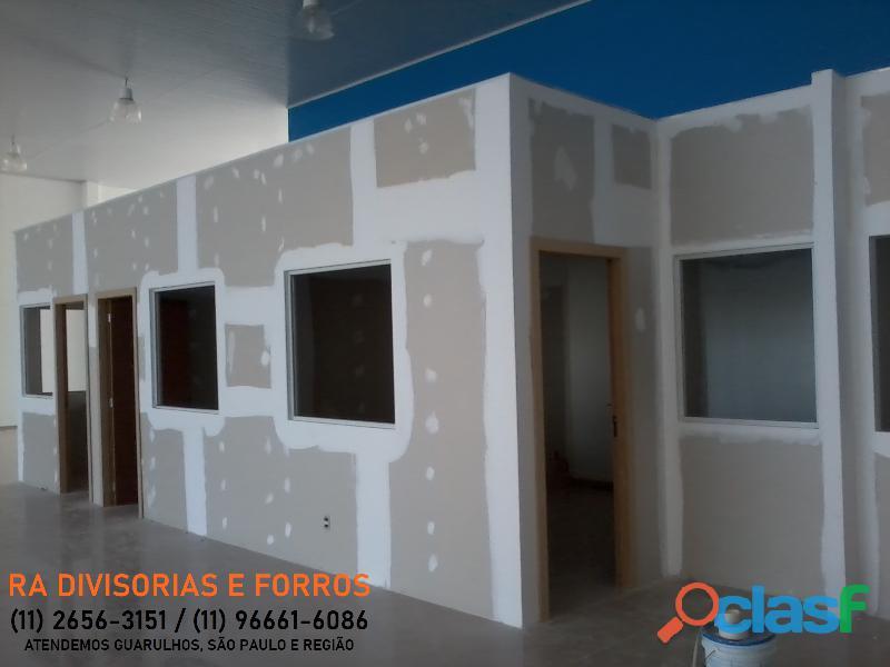 Divisoria em Guarulhos SP eucatex drywall forro isopor pvc vidro divisorias usadas 8