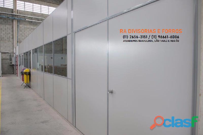 Divisoria em Guarulhos SP eucatex drywall forro isopor pvc vidro divisorias usadas 7