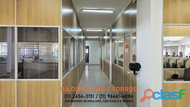 Divisoria em Guarulhos SP eucatex drywall forro isopor pvc vidro divisorias usadas 6