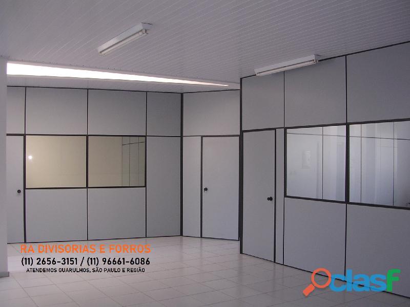 Divisoria em Guarulhos SP eucatex drywall forro isopor pvc vidro divisorias usadas 4