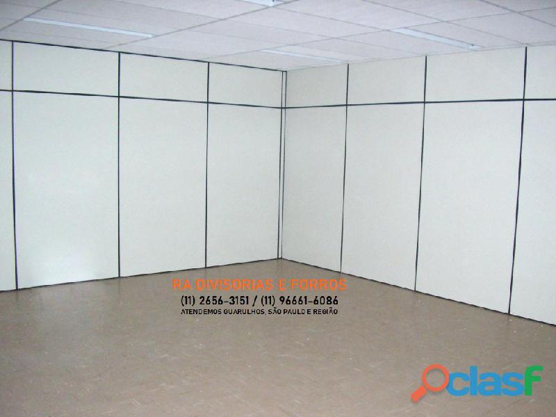 Divisoria em Guarulhos SP eucatex drywall forro isopor pvc vidro divisorias usadas 3