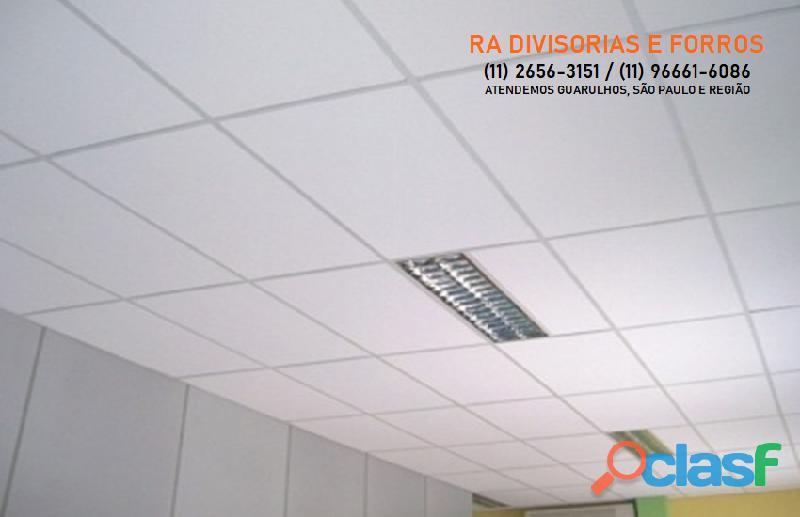 Divisoria em Guarulhos SP eucatex drywall forro isopor pvc vidro divisorias usadas 2