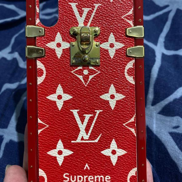 Kit case/capa iphone x/xs promoção lv caveira e gatinho