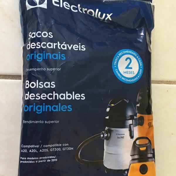 Saco descartável aspirador de pó electrolux gt30n gt300