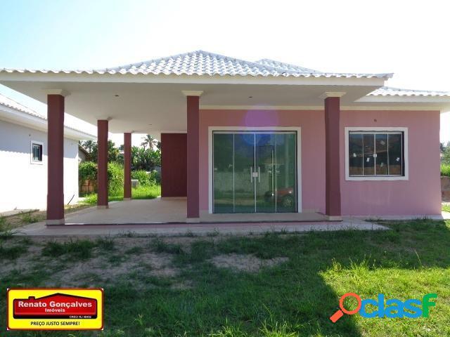 Casa nova de alto padrão - venda - araruama - rj - lake view - bananeiras