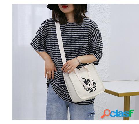 Novo original único coréia dongdaemun harajuku estilo saco de lona feminino ombro pendurado saco pequeno portátil