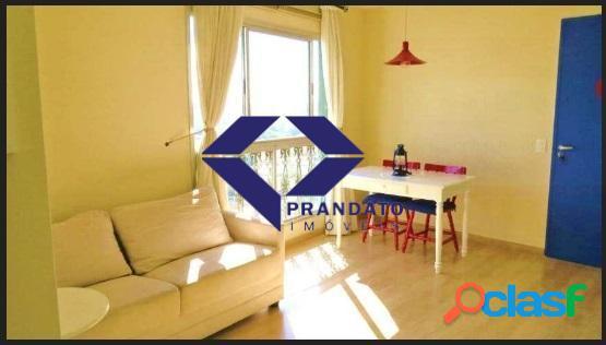 Apartamento com 1 dormitório à venda, 50 m² por r$ 369 mil no campo belo