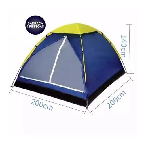 Barraca camping tenda iglu 4 pessoas acampamento praia a