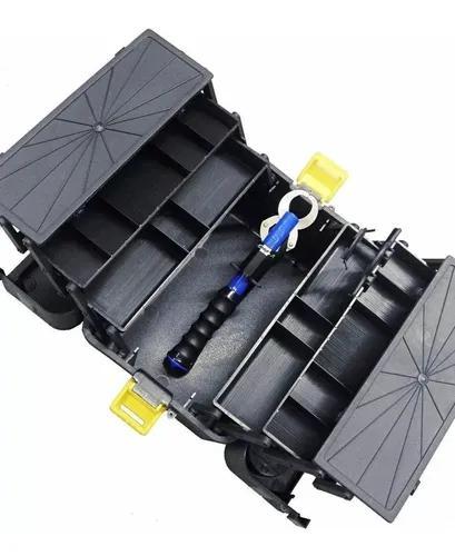 Caixa pesca 6 bandejas articuladas hi + alicate jogá 21 kgs